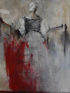 "Saatchi Online Artist: Danka Jaworska; Acrylic, Painting ""kvinna 01"""