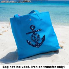Glitter Anchor Iron On Glitter Monogram Iron by IHeartHoundstooth, $5.00