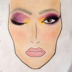 Face chart colorfull eyes