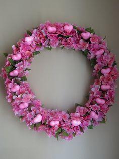 Memorial Day, Heart Wreath, Pink Wreath, Spring Wreath, Easter Wreath, Wreath, Front Door Wreath, Hydrangeas, Summer Wreath, Door Wreath by WaukeeCreations on Etsy