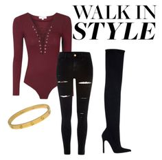 """""""The broadway show Kinky Boots"""" by flyingren ❤ liked on Polyvore featuring River Island, Zara and Cartier"""