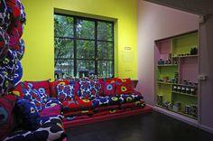 "Even more Unikko! ""Marimekko took a stand on power of expression with an Unikko pattern place at Spazio Rossana Orlandi during Milan design week in April 2014. #unikko50 #marimekko """