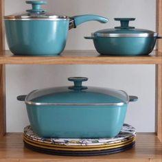 Aqua, Kitchen Appliances, Post, Saucepans, Food Items, Products, Kitchen Design, Diet, Frying Pans