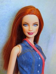 Barbie-Fashionista-Repaint-ooak-Custom-Doll-Redhead-Dressed-Outfit-Red-Hair
