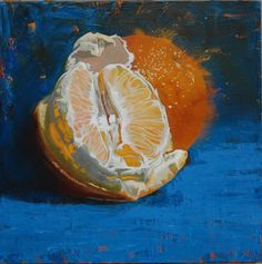 Two oranges Oil on canvas 50x50cm