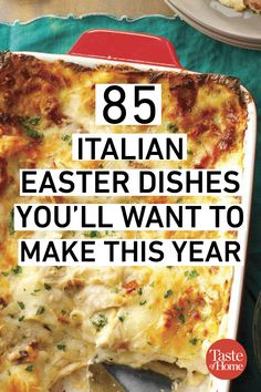 85 Italian Easter dishes you . - 85 Italian Easter dishes you want to prepare this year recipes ideas reci - Easter Dinner Recipes, Holiday Recipes, Easter Dinner Ideas, Italian Dishes, Italian Recipes, Italian Foods, Italian Easter Pie, Easter Dishes, Vegetarian Recipes