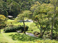chácara / sítio Lumiar - vista da casa sede p/ piscina+rio+quadra de Bocha
