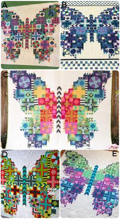 Tula Pink Butterfly Quilt Inspiration and Fabric Kits - GnomeAngel