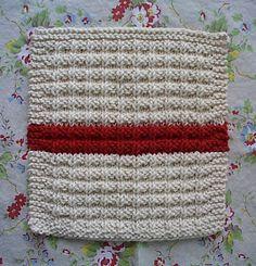 homespun living: waffle knit dishcloth pattern en francais
