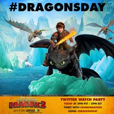 "Get HOW TO TRAIN YOUR DRAGON 2 at digital stores everywhere and join us  for a global Twitter watch party on Friday, October 24 at 5pm PT / 8pm ET Tomorrow at 5PM PST/8PM EST, fans around the world will all ""press play"" at the same time to watch..."