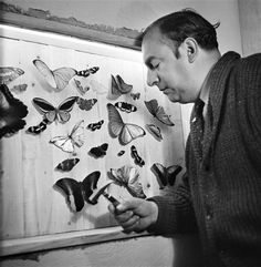 Pablo Neruda at home, Chile, 1944 -by Gisèle Freund