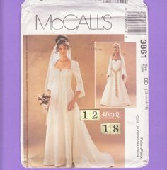 McCall's 3861 Size 12 14 16 18 Flared Sleeve by FlashbackFinds