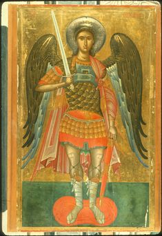 Byzantine Icons, Byzantine Art, Gabriel, Angel Warrior, Best Icons, Religious Icons, Orthodox Icons, Angel Art, St Michael