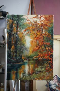 ❤ ️im ❤ painting в 2019 г. painting, watercolor paintings и acrylic art. Acrylic Painting Canvas, Acrylic Art, Canvas Art, Acrylic Painting Tutorials, Canvas Size, Landscape Art, Landscape Paintings, Autumn Painting, Beautiful Paintings