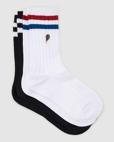 Pack de dos pares de calcetines de mujer Easy Wear acanalados