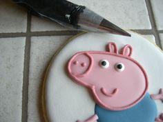 "Biscotti Peppa Pig ""George"" Peppa Pug, Peppa Pig Birthday Cake, Hello Kitty, Goodies, Decorated Cookies, Calendar, Meet, Sweet Like Candy, Gummi Candy"