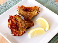 Jewish Fried Artichokes - Recipe and step-by-step photo tutorial for crispy and savory Jewish Fried Artichokes. Includes steps for cleaning and prepping artichokes. via @toriavey