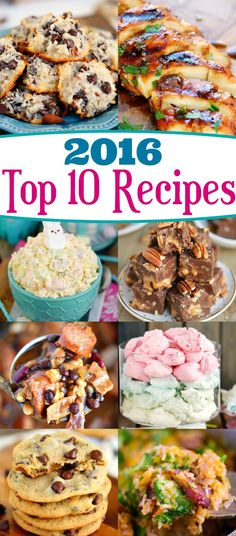 The ten most popular recipes from Mom On Timeout in 2016! A fabulous collection of both sweet and savory! Hope you try them all! // Mom On Timeout