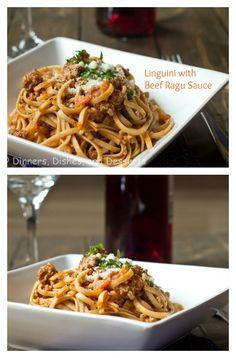Linguini with Beef Ragu - so comforting!