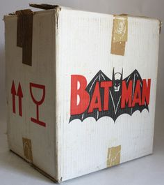 Amazing Ultra RARE Vintage Batman Big Empty Carton Box Adam West Greek Greece | eBay