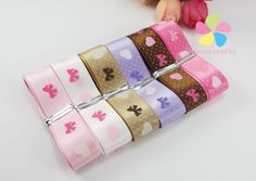 """Aliexpress.com : Buy 5/8"""" 16mm Mixed 6 Colors Printed Satin Ribbon Handmade Material DIY Garment Sewing Accessories 6 yards/lot  040007060 from Reliable accessories spikes suppliers on Lucia Craft store"""
