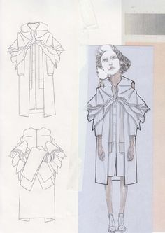 Fashion Sketchbook - fashion design drawings; graduate fashion portfolio layout // Valeska Collado