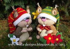 Große Eichhörnchen, Häklanleitung von mala designs auf DaWanda.com