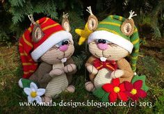 Große Eichhörnchen, Häklanleitung van mala designs op DaWanda.com