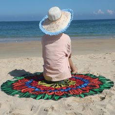 Technology: Weaving Pattern type: stripes Style: Jacquard Shape: round Material: polyester / cotton Pattern: printing Beach Towel, Beach Mat, Beach Bedspreads, Cheap Blankets, Yoga Decor, Picnic Mat, Indian Tapestry, Geometry Pattern, Yoga Towel