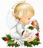 Sandra @ ribbonsandfavors.com Image. Vintage Christmas angel artist, Ruth Morehead.