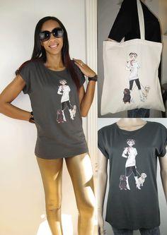 ALICE BRANDS projetos originais da raça do cão em partes superiores das mulheres fabulosas de qualidade, t-shirt e agora em bolsas também. Alice com Cocker Spaniel mostrado. etsy.com/uk/shop/AliceBrands ... Consulte a nossa gama completa de www.alicebrands.co.uk