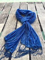 Sparkles plus | summer scarf  Lovely shimmery scarf adorned with pretty little sparkles to make you shine.  Available in lime green, deep blue and this ocean blue.