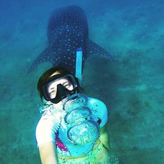 """Selfie with You!  #eudiselfie #whaleshark #shark #maldives #dreamscometrue"""