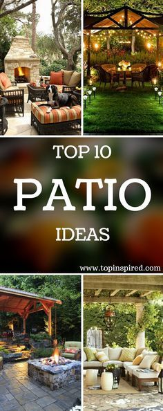 The best patio ideas for backyard designs include using popular décor such as light fixtures, potted plants, fireplaces, or outdoors bars. - #patio