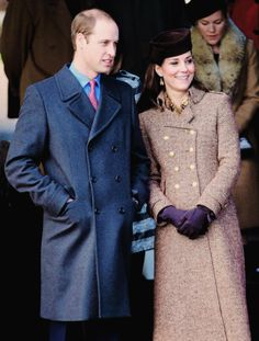 """"""" The Duke and Duchess of Cambridge leave the Christmas Day Service at Sandringham 