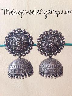 The Suryakanti Silver Jhumka Pinned by Sujayita