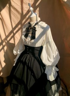 Pre-order Evening Prayer Accordion Cuff Blouse by Chronos's Temple Kawaii Fashion, Lolita Fashion, Cute Fashion, Emo Fashion, Victorian Fashion, Vintage Fashion, Gothic Fashion, Beautiful Outfits, Cool Outfits