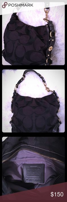 Coach Bag  Beautiful Black Never used Coach Bag... Measurements are... length 15, width 5 1/2, depth 12 inches. Definitely perfectly for any occasion and upcoming season. And also has sturdy fitted brass untarnished hardware. Coach Bags Shoulder Bags