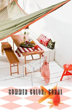 i'm trying desperately to figure out how to incorporate more coral into my decor!  Its so refreshing!