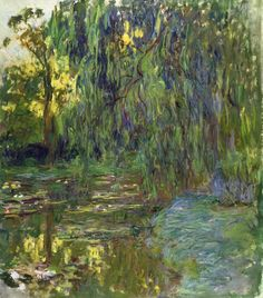 Weeping Willow and Waterlily Pond, Claude monet, s.d.