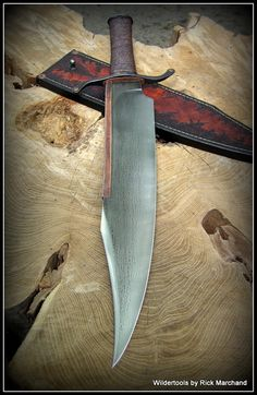 Rick Marchand/Wildertools Copper Backed Musso Bowie. A rustic, but lethal design. Fantastic.