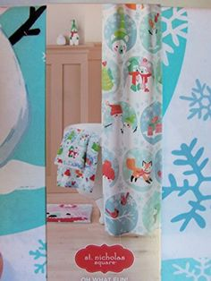 St. Nicholas Square Oh What Fun! Fabric Shower Curtain & Hooks