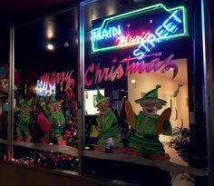 Dec 6. Elves singing Christmas carols  in Downtown Tracy