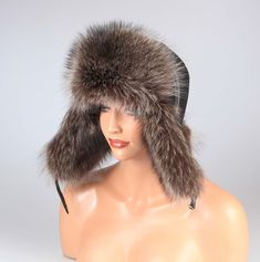 Uomo Procione Berretto Aviatore Cappello di Pelliccia Pelo da Pilota  Invernale  178 3e156fe53b8a