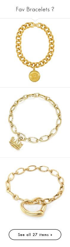 """""""Fav Bracelets """" by aniahrhichkhidd ❤ liked on Polyvore featuring jewelry, necklaces, accessories, bracelets, versace, gold, chains jewelry, versace jewellery, versace jewelry and versace necklace"""