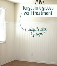 #diy tongue and groove wall treatment