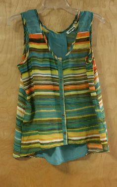 TRAMP Women's Boho Size L Striped Sleeveless Top in Clothing, Shoes & Accessories, Women's Clothing, Tops & Blouses | eBay