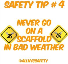Never work on a scaffold in bad weather conditions such as high winds or snow.  You should only work on the scaffold if a competent person determines it is safe to do so. #construction #constructionsite #constructionworker #site #tip #constructionzone #tips #hazard #scaffolding #constructionlife #sitesafety #supervisor #safety #construccion #safetyfirst #safetytips #tip #osha #startup #startups #builder #smallbiz #nyc #training #safe #localbusiness #smallbusiness #followus #allnycsafety
