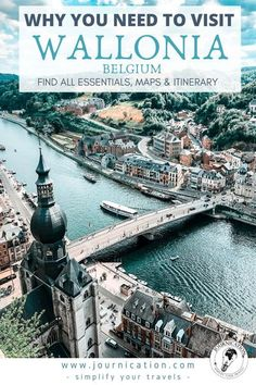 4 day Wallonia / Belgium road trip route. Hey, you're looking for beautiful old towns, nature and castles? In this Travel Guide you find all travel & insider tips you need to know to simplify your planning for the Wallonia with perfect city trip destinations like Liège, Namur & Dinant. Find itineraries including maps with all things to do, photo spots for Iinstagram & must-see places in the region with beautiful places like Bouillon, Roche-en-Ardenne & Bastogne #wallonia #belgium #europe