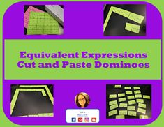 flash freebie equivalent expressions cut and paste dominoes Equivalent Expressions, Math Expressions, Combining Like Terms, Common Core Math Standards, Math Stations, Cut And Paste, Upper Elementary, Interactive Notebooks, Math Resources